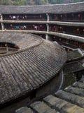 Bâtiment traditionnel intérieur de Tulou de Hakka Fujian, Chine Photo stock