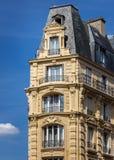 Bâtiment typique de Haussmannian, Paris, France photo stock