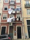 Bâtiment typique, rues de Lisbonne Portugal Photo stock