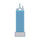 Bâtiment urbain de tour Image stock