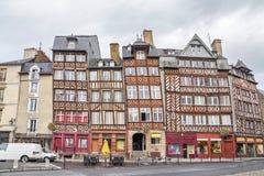 Bâtiments à colombage à Rennes images stock
