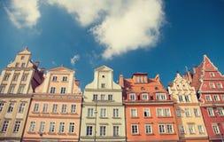 Bâtiments à Wroclaw images libres de droits