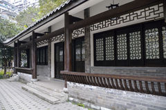 Bâtiments élégants d'antiquité de style de la Chine Photo libre de droits