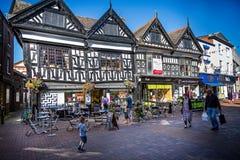 Bâtiments élisabéthains à colombage dans la grand-rue, Nantwich, Cheshire, R-U photo libre de droits