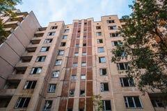 Bâtiments abandonnés de zone de Pripyat Chornobyl de ville fantôme Image libre de droits
