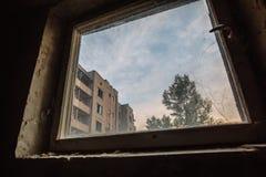 Bâtiments abandonnés de zone de Pripyat Chornobyl de ville fantôme Photographie stock libre de droits