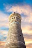 Bâtiments antiques d'architecte de mosquée de Boukhara de ville historique Image stock