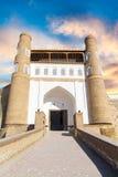 Bâtiments antiques d'architecte de mosquée de Boukhara de ville historique Photos libres de droits