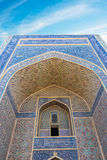 Bâtiments antiques d'architecte de mosquée de Boukhara de ville historique Images stock