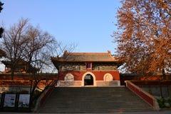 Bâtiments antiques en parc de Beihai image libre de droits