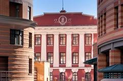 Bâtiments antiques et modernes à Kiev Image libre de droits