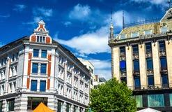 Bâtiments au centre de la ville d'Oslo Image libre de droits