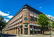 Bâtiments au centre de la ville d'Oslo Images stock