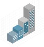 Bâtiments/augmenter de loyer ou d'hypothèque illustration de vecteur