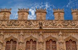 Bâtiments avec des avants de dentelle de ville Valence Espagne Photographie stock