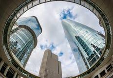 Bâtiments ayant beaucoup d'étages dans Houston Texas du centre images libres de droits