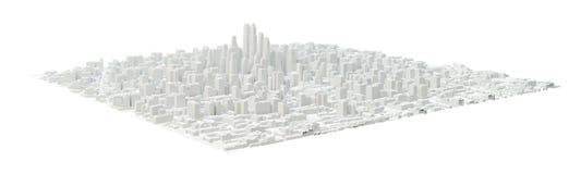 Bâtiments blancs de ville illustration libre de droits