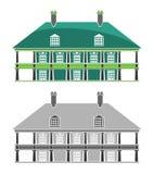 Bâtiments - Chambre coloniale française Photo stock