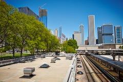 Bâtiments Chicago images libres de droits