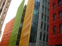 Bâtiments colorés dans la ville Images libres de droits