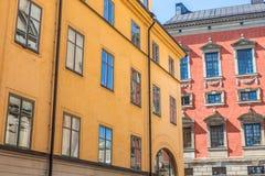 Bâtiments colorés en Gamla Stan Stockholm Photo stock