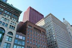 Bâtiments colorés multi de Chicago image libre de droits