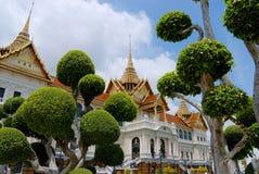 Bâtiments complexes de Wat Phra Kaew à Bangkok, Thaïlande Image stock
