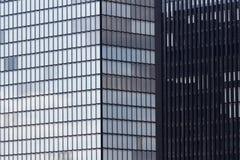 Bâtiments contrastants Photographie stock