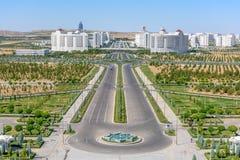 Bâtiments d'Achgabat Turkménistan photographie stock libre de droits