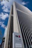 Bâtiments d'affaires dans le secteur financier de Francfort Image stock