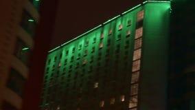 Bâtiments d'une ville de nuit banque de vidéos