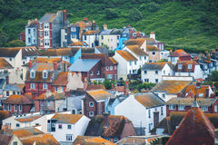 Bâtiments dans Hastings, le Sussex est, Angleterre Photos libres de droits