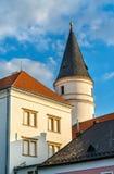 Bâtiments dans la vieille ville de Prerov, République Tchèque Photographie stock libre de droits