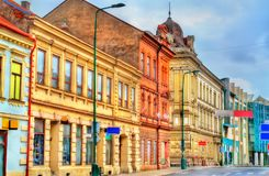 Bâtiments dans la vieille ville de Trebic, République Tchèque photographie stock libre de droits