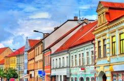 Bâtiments dans la vieille ville de Trebic, République Tchèque photographie stock