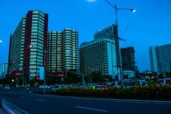 Bâtiments dans le Bd. de Roxas Photographie stock libre de droits