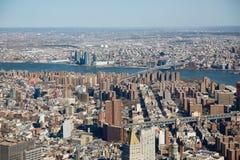 Bâtiments dans le paysage urbain de New York Image stock