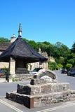 Bâtiments de centre de village, château Combe Photos libres de droits