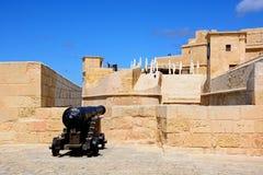 Bâtiments de citadelle, Victoria, Gozo Images stock