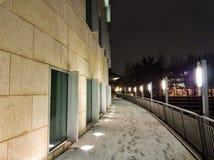 Bâtiments de Georgia Tech pendant la tempête de neige photographie stock libre de droits