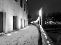 Bâtiments de Georgia Tech pendant la tempête de neige images stock
