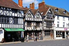 Bâtiments de grand-rue, Stratford-sur-Avon photographie stock
