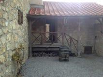 Bâtiments de l'Autriche Carnuntum de ville romaine antique photographie stock