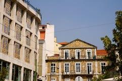 Bâtiments de Lisbonne images libres de droits