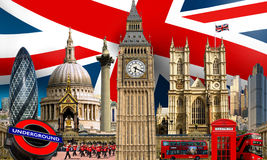 Bâtiments de point de repère d'horizon de Londres Photos stock