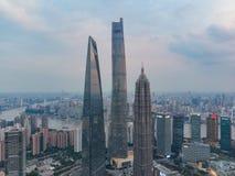 Bâtiments de point de repère à Changhaï images stock
