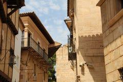 Bâtiments de pueblo Espanol Palma de Mallorca Spain Images stock