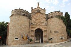Bâtiments de pueblo Espanol Palma de Mallorca Spain Photos stock