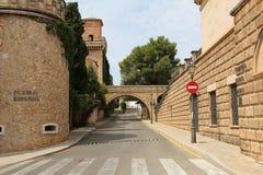 Bâtiments de pueblo Espanol Palma de Mallorca Spain Photo libre de droits