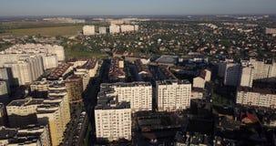 Bâtiments de région de dortoir dans Kyiv banque de vidéos